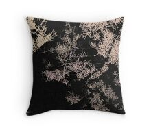 Forest trees at night Throw Pillow