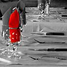 Red Napkin by phil decocco