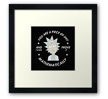 rick and morty mathematical Framed Print