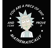 rick and morty mathematical Photographic Print