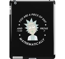 rick and morty mathematical iPad Case/Skin