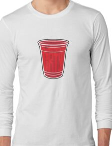 Red Cup Party by Tai's Tees Long Sleeve T-Shirt