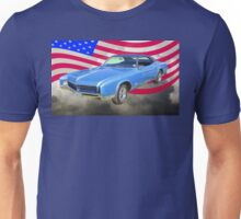 1967 Buick Riviera With United States Flag Unisex T-Shirt