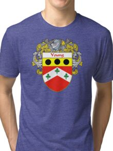 Young Coat of Arms / Young Family Crest Tri-blend T-Shirt