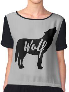Wolf Say Auuuuuuuu Chiffon Top