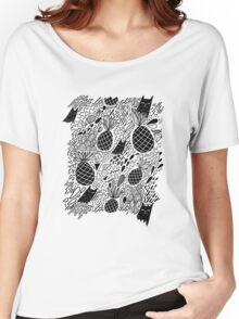 Black Cats and Pineapples Women's Relaxed Fit T-Shirt