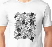 Black Cats and Pineapples Unisex T-Shirt