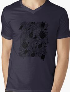 Black Cats and Pineapples Mens V-Neck T-Shirt