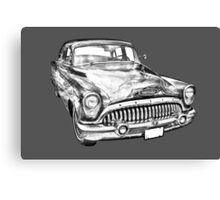 1953 Buick Special Antique Car Illustration Canvas Print