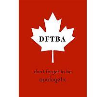 DFTBApologetic Photographic Print