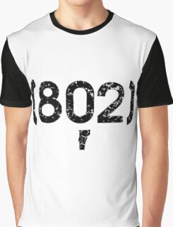Area Code 802 Vermont Graphic T-Shirt