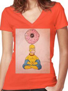Bouda Homer Women's Fitted V-Neck T-Shirt