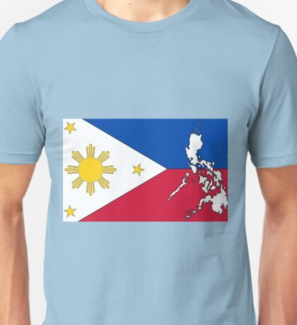 Philippines Map With Philippine Flag Unisex T-Shirt