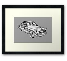 1951 Buick Eight Antique Car Illustration Framed Print
