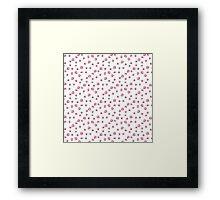 Kirby's Adventure Sprite Pattern Framed Print