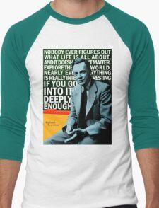 Richard Feynman Men's Baseball ¾ T-Shirt