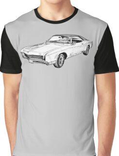 1967 Buick Riviera Illustration Graphic T-Shirt