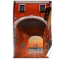 Sunset in Castello - Venice Poster