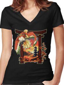 Heart Gold Women's Fitted V-Neck T-Shirt