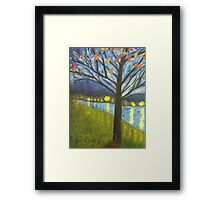 Tree and Lake Framed Print