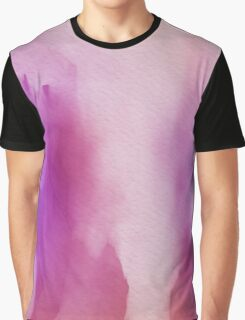 Pinks & Purple Watercolor Positive Space Graphic T-Shirt