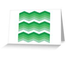 Green Chevron Greeting Card