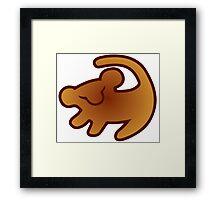 Lion King Mark Framed Print