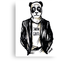 Frank Panda Swim Good in the Ocean Canvas Print