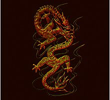 Asian Dragon fantasy design by Val  Brackenridge