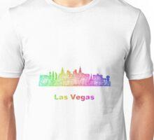 Rainbow Las Vegas skyline Unisex T-Shirt