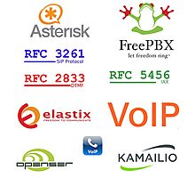voip sip asterisk kamailio vozip sticker set Photographic Print