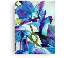 Purple Singapore Orchid watercolour flower Canvas Print