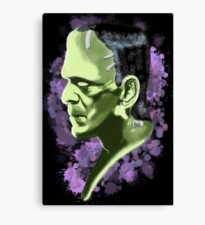 Frankenstein splatter Canvas Print