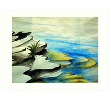 Rockpool by the beach Art Print