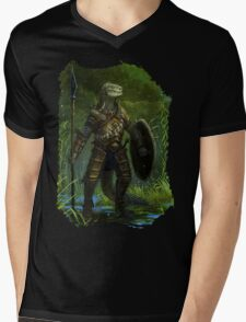 Argonian Warrior Mens V-Neck T-Shirt
