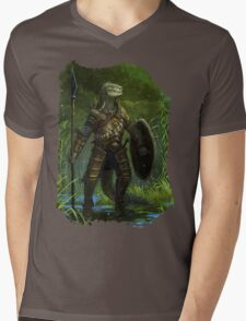 Argonian Warrior Mens V-Neck T-Shirt