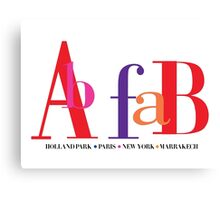 Ab Fab - Holland Park Canvas Print