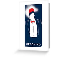 The 11th Doctor Greeting Card