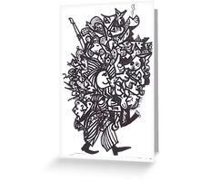 New Enlarged Happy Man Carries the World Greeting Card