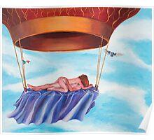 Balloon Fantasy, original acrylic on canvas Poster