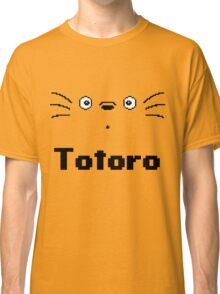 8-Bit Totoro Face with Text <3 My Neighbour Totoro Classic T-Shirt