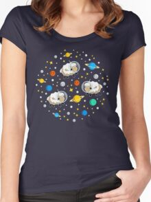 Space Sheep (white) Women's Fitted Scoop T-Shirt