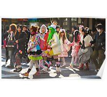 Harajuku Girls Street Style Poster