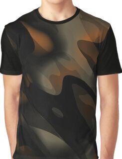 black and orange abstract Graphic T-Shirt