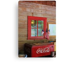 Patriotic Coca-Cola Machine Canvas Print