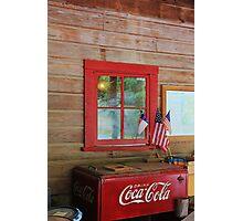 Patriotic Coca-Cola Machine Photographic Print