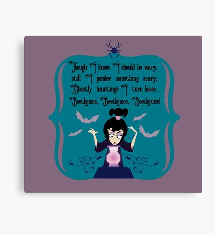 Lydia Incantation (Purple) Canvas Print