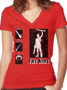 The King - Dark Women's Fitted V-Neck T-Shirt