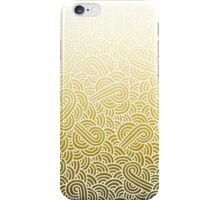 Ombre yellow and white swirls zentangle iPhone Case/Skin