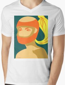RACER GIRL Mens V-Neck T-Shirt